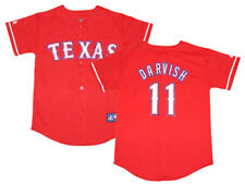 NWT Majestic Yu Darvish Texas Rangers Youth Replica Alternate 1 Jersey