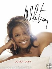 "Whitney Houston legendary singer Reprint Signed 8x10"" Photo RP #2"