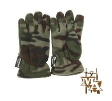 Kids 3M Thinsulate Green Army Camouflage Gloves Boys Childrens Khaki Camo Gloves