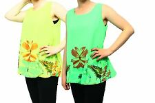 Ladies Brightly coloured sleeveless loose fitting top