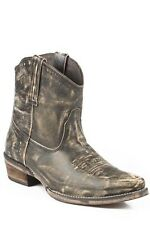 Women's Roper 09-021-0977-0683 Distressed Brown Leather Western Half Boots