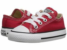 Unisex Toddler Infant Convers 7J236 Chuck Taylor All Star OX Sneaker shoes Red