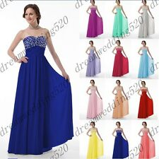 Long New Formal Evening Ball Gown Party Prom Bridesmaid Dress Stock Size 6-18