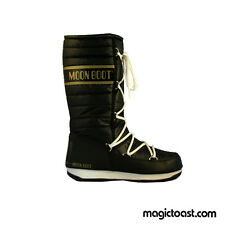 Moon Boots Womens Moonboot WE Quilted Black Gold Snow Shoes