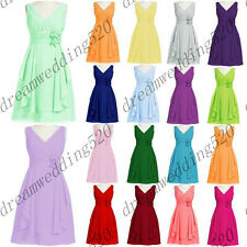 STOCK New Short Hot Prom Party Bridesmaid Wedding Evening Dress Size 6-18