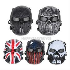 Army Airsoft Paintball Tactical Full Face Protection Skull Mask for Outdoor