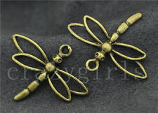 5/20/100pcs Antique Bronze Lovely Dragonfly Jewelry Craft Charms Pendant 31x26mm