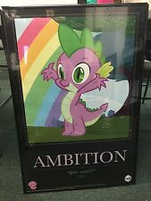 My Little Pony San Diego Comic Con 2011 Spike Ambition Motivational Poster