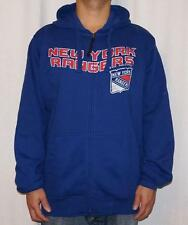 NWT New York Rangers G-III Sports by Carl Banks Mens Full Zip Hooded Sweatshirt