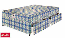 AIRSPRUNG Gingham Duraspring Mattress & Divan Set, Guest Bed & Storage Options