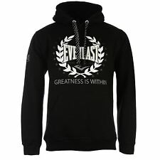 EVERLAST Authentic Mens Over The Head Hoody Hoodie Jumper Fitness Workout Top