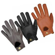 MENS REAL GENUINE ANILINE LEATHER CLASSIC DRIVING FASHION GLOVES