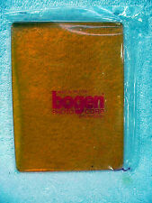 "4 colored filters Bogen large square hard plastic filter set 4 11/16""  x 6 3/8"""
