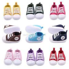 Toddler Infant Baby Boy Girl Canvas Sneakers Soft Sole Crib Shoes Newborn to 12M