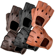 MENS REAL GENUINE ANILINE LEATHER CLASSIC CYCLING FASHION GLOVES