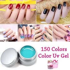 12 Pcs UV Gel Builder Kit Nail Art Cover Tips Extension Tips Manicure Pure Color