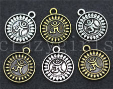 15/60/300pcs Tibetan Silver Beautiful Circular Logo Charms Pendant DIY 16x13mm