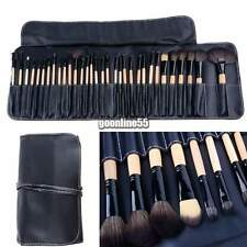 32PCS Cosmetic Makeup Blush Eyebrow Eye Liner Superior Brush Set Kit + Pouch EA9