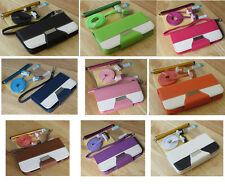 Varied Color PU Leather Wallet Stand Flip Pouch Case Cover For iPhone 4 4S