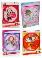DISNEY KIDS WALL CLOCK TIME WATCH & CLOCKS *25cm CLOCK IDEAL GIFT FOR KIDS