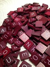 Individual Red  authenic Scrabble Tiles, Quick Free shipping from