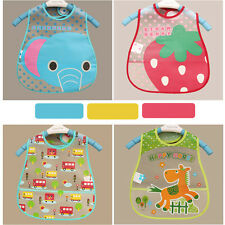 Baby Kid Cute Animal Pattern Bib Waterproof Lunch Bibs Cloth Towel Saliva Hot