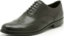 SALE £39.99 MENS CLARKS BRINT BROGUE G FIT BLACK LEATHER LACE UP SMART SHOES