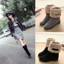 Hot Winter Womens Winter Warm Shoes Snow Boots US 5.5-8 Flat Fashion Boots D23
