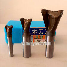 """Dovetail Router Bits 1/4 & 1/2 Shank 3/8""""- 1-1/2"""" Dia Round Over Router Bits"""
