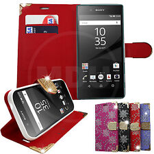 BLING DIAMOND MAGNETIC FLIP LEATHER WALLET CASE FOR SAMSUNG GALAXY APPLE PHONES