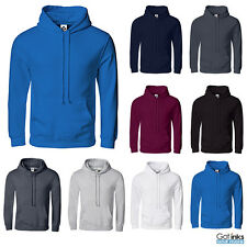 New Hooded Plain Sweatshirt Men Women Pullover Hoodie Fleece Cotton Blank S-3XL