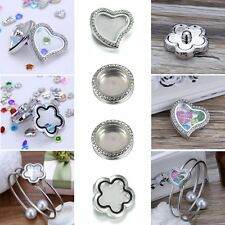 Gift Snap-It Chunk Design Floating Charms Locket For Button Snap Bangle Bracelet