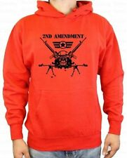Mens Hoodie 2nd Amendment Fathers Day Gifts Pullup Hoodie Unisex Sweater Red