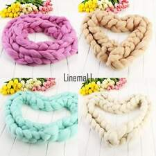 Baby Soft Colorful Photography For photo props Basket Stuffer wool braid blanket