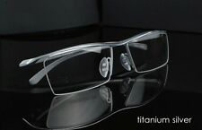 Pure titanium eyeglasses half rimless business frame optical eyeglasses P8189