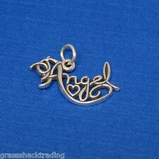 ANGEL HEART Solid Sterling Silver Pendant - Charm w/ Options #2008