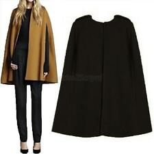 Casual Cape Cloak Parka Outwear Jacket Overcoat Wool Coat For Women Fashion New