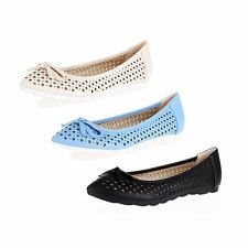 Ladies Pointed toe cut out style flat cleated sole shoes