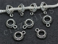 10/50/260pcs Tibetan Silver Bulk Big Hole European Charm Beads Craft DIY 13x10mm