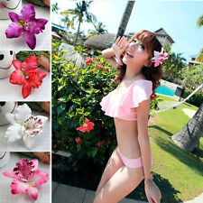 Women Summer Hawaii Style Beach Orchid Party Flowers Hair Clips 4colors