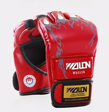 MMA UFC Sparring Grappling Boxing Fight Punch Ultimate Mitts Leather Gloves AU