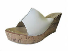 """*SALE* Anne Michelle F10275 Ladies White Synthetic Slip On Casual  3.5"""" Wedges"""