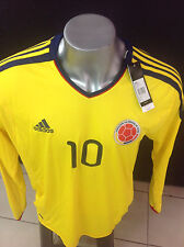 2013 SELECCION COLOMBIA NATIONAL TEAM MEN´S FCF JERSEY ADIDAS V09663 JAMES 10 LS