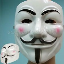 V For Vendetta Movie Costume Masks Guy Fawkes Anonymous Halloween Cosplay New