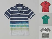 ABERCROMBIE KIDS BOYS POLO T SHIRT Size XS S M L XL NWT blue RED gray GREEN