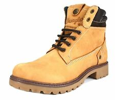 Wrangler Creek Womens Leather Tan Honey Hiking Lace Up Walking Ankle Boots