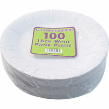 "5000 x WHITE PAPER PLATES DISPOSABLE 18CM 7"" TABLEWARE PARTY ROUND CATERING FOOR"
