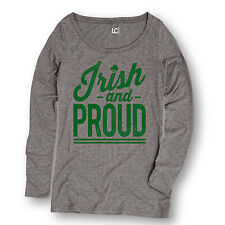 Irish and Proud St Pattys Day Fashion - Ladies Long Sleeve Tee
