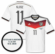 ADIDAS GERMANY M. KLOSE FINAL DETAIL AUTHENTIC JERSEY FIFA WORLD CUP BRAZIL 2014