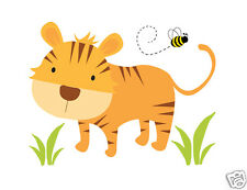 Tiger Decal Safari Animal Wall Art Sticker Boy Jungle Nursery Zoo Mural Decor